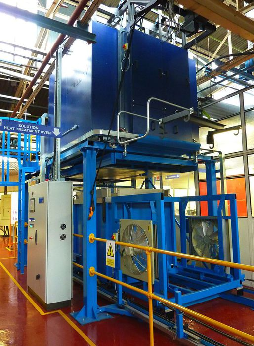 HS Marston Aerospace Heat Exchanger Drop Quench Heat Treatment
