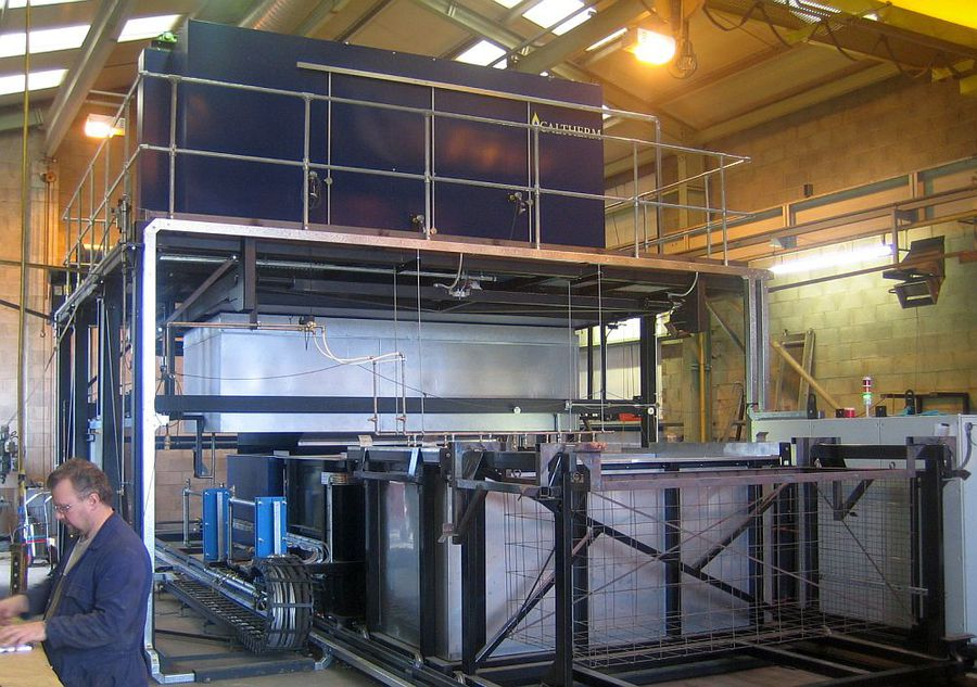 Terma Aerostructures, Denmark, Drop-Quench Oven to AMS2750E, with 5 sec Quench